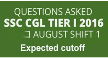 SSC CGL Asked Question 31 August 2016 Exam Analysis