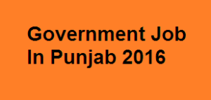 Govt job in punjab