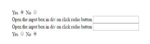 onclick radio button show show div