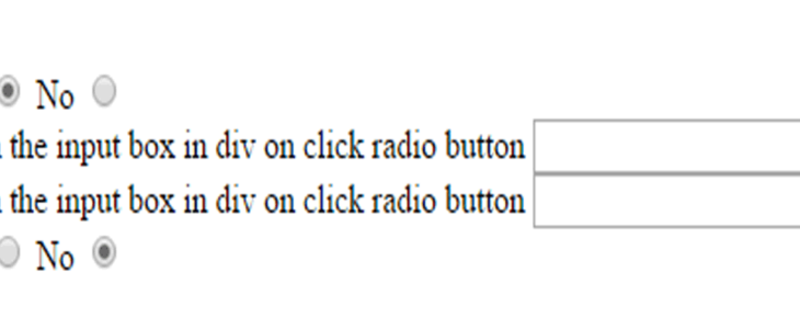 How to display the div on click radio button yes or not used javascript
