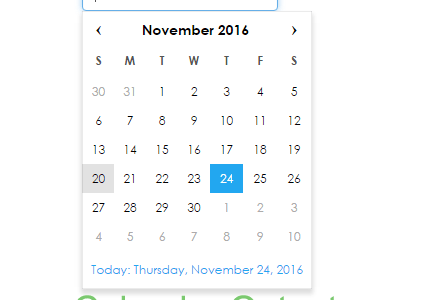 Simple Calendar code script download Using HTML JavaScript PHP