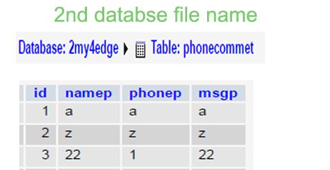 databse-in-ajax-file