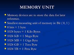 Important Units of Computer Memory
