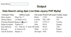 data-search-using-ajax-live
