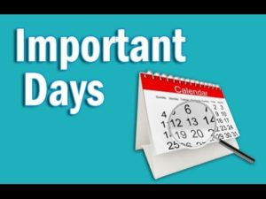 October Month Related important Day and famous Dates.