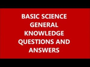 General Science Related Most Question