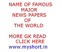 Name of Famous Major Newspapers of The World