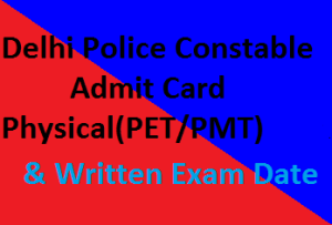 Delhi-Police-exam Constable-Admit-Card