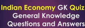 GK economy quiz