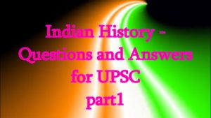 Indian history Question part 1