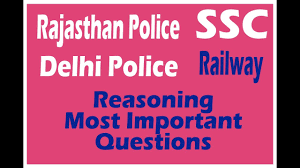 Reasoning Question For RRB, Rajasthan Police SI 30-04-2018