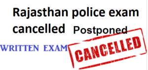 Update news Rajasthan Police Constable Exam Cancelled Postponed