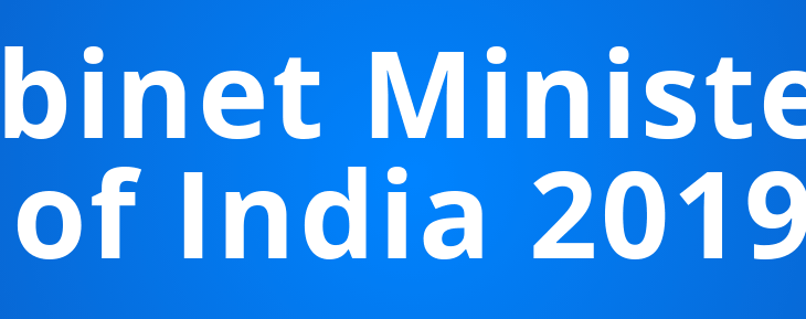 Important List of Cabinet Ministers of India 2019
