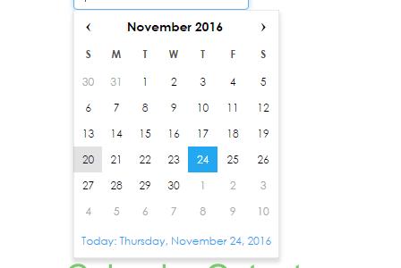 Simple Calendar code script download Using HTML JavaScript PHP