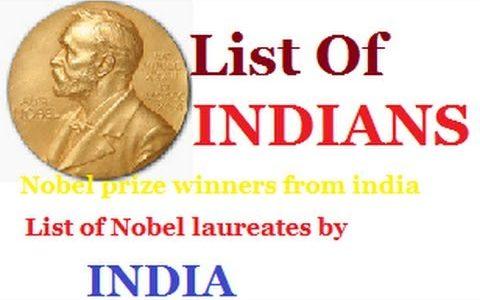List of Related  Indian Nobel laureate