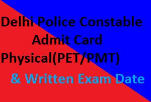 Delhi-Police-exam Constable-Admit-Card