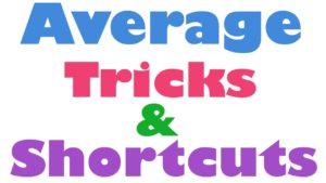 Average Related Quantitative Aptitude Study Notes